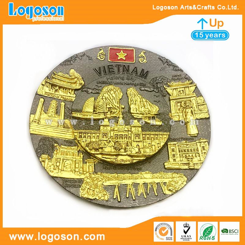 Engraved Decorative Plates For Wall Display Vietnam Souvenir