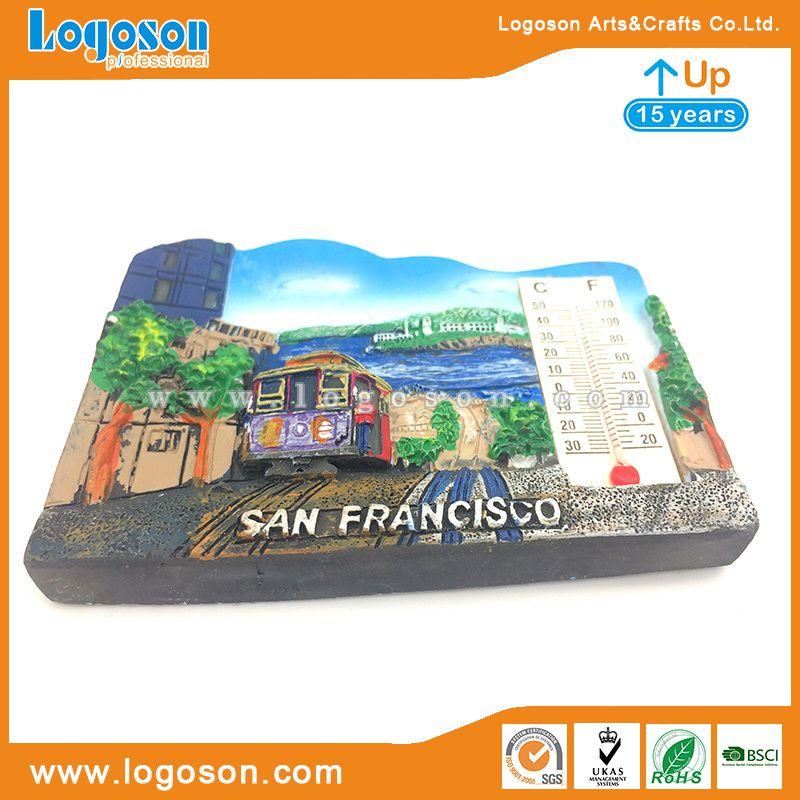 Custom Resin Magnet Charming Photo San Francisco Souvenirs