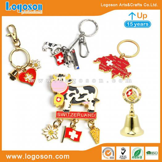 9e8c7180dc9a Keychain Bell Magnet Switzerland Souvenirs Gift Set Customized