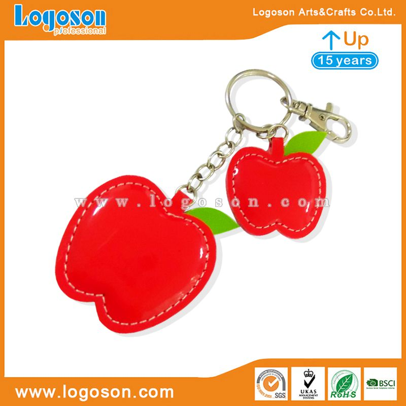 leather apple keychain