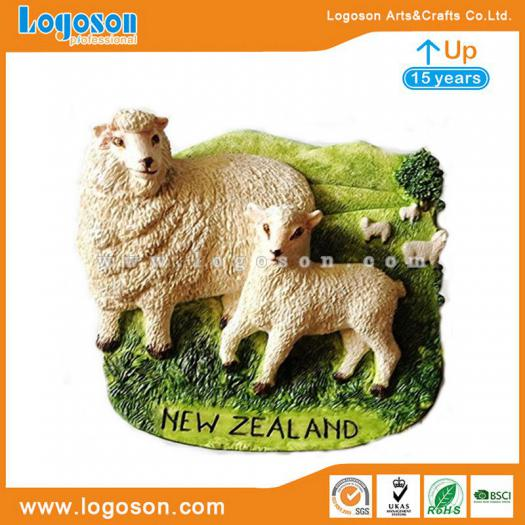 New Zealand Souvenirs Kiwi, Sheep Resin Magnets Custom Logos