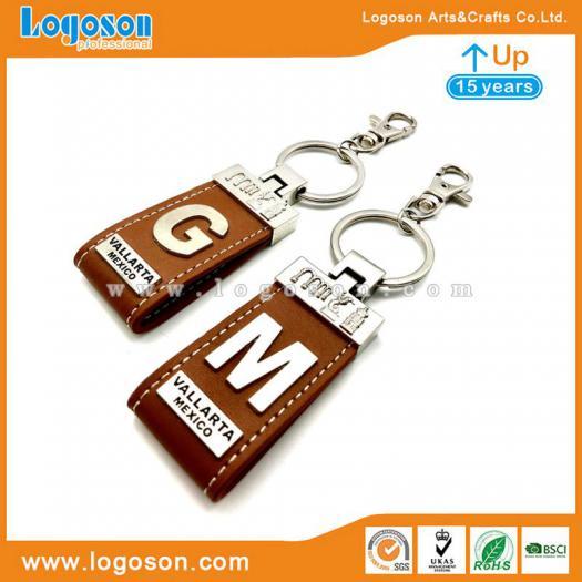 Top Quality Wholesale Mexican Leather Letter Keychains Souvenir