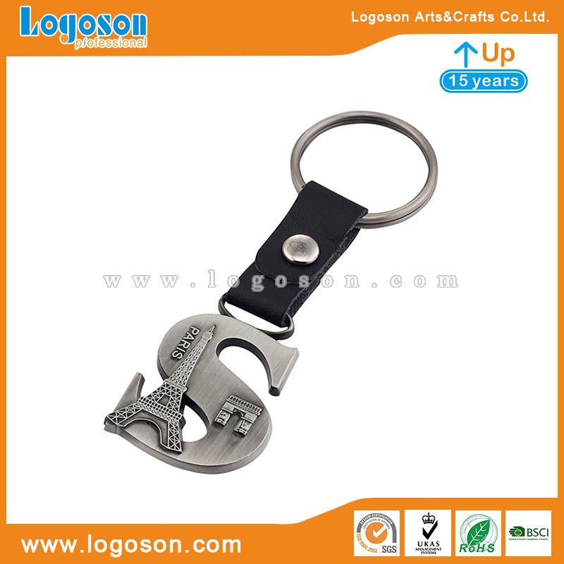 paris letter keychain