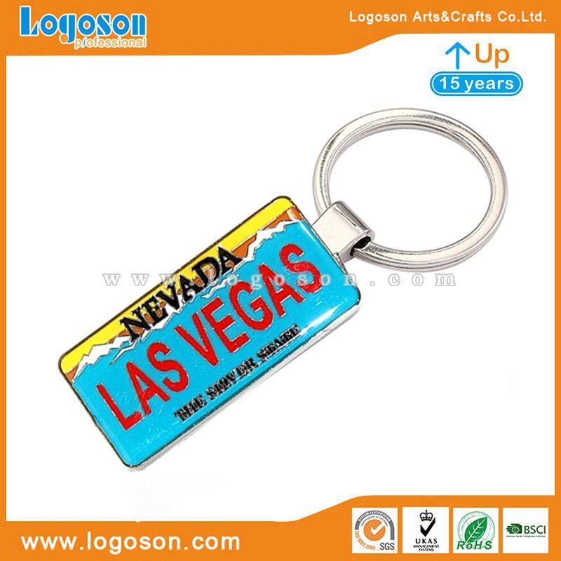 las vegas license plate keychain