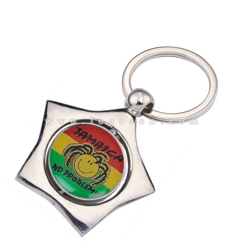 star jamaica souvenir keychain